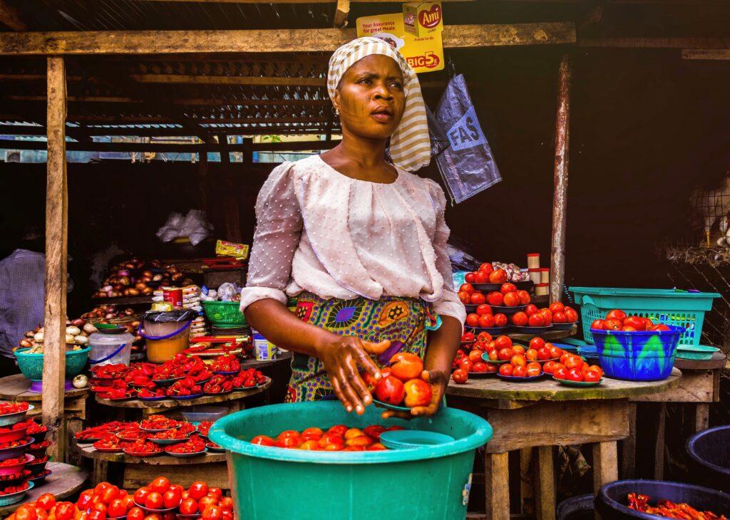 woman selling